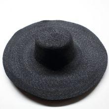 Black Laichow Straw Braid Milliner's Capeline